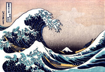Japanese tsunami painting